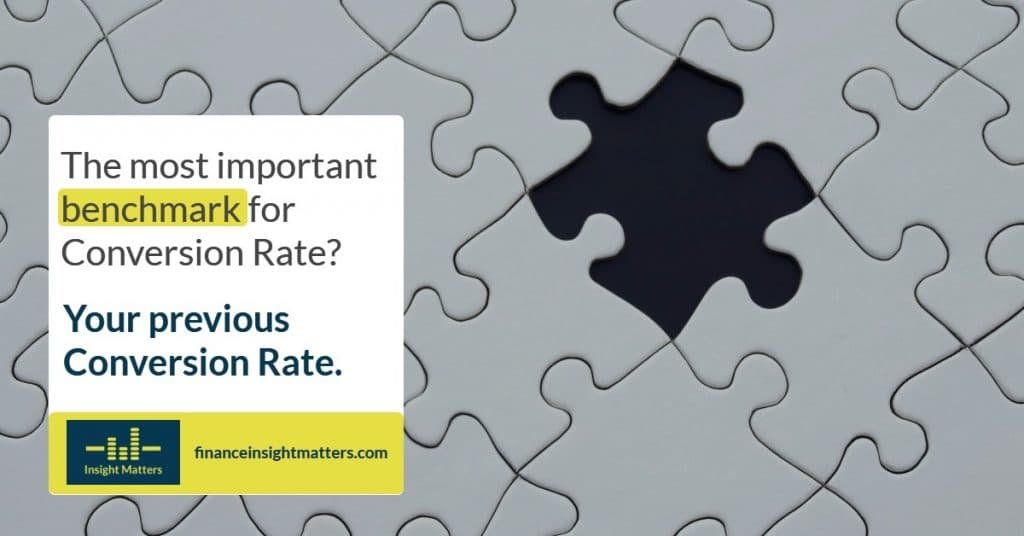Important benchmark for Conversion Rate