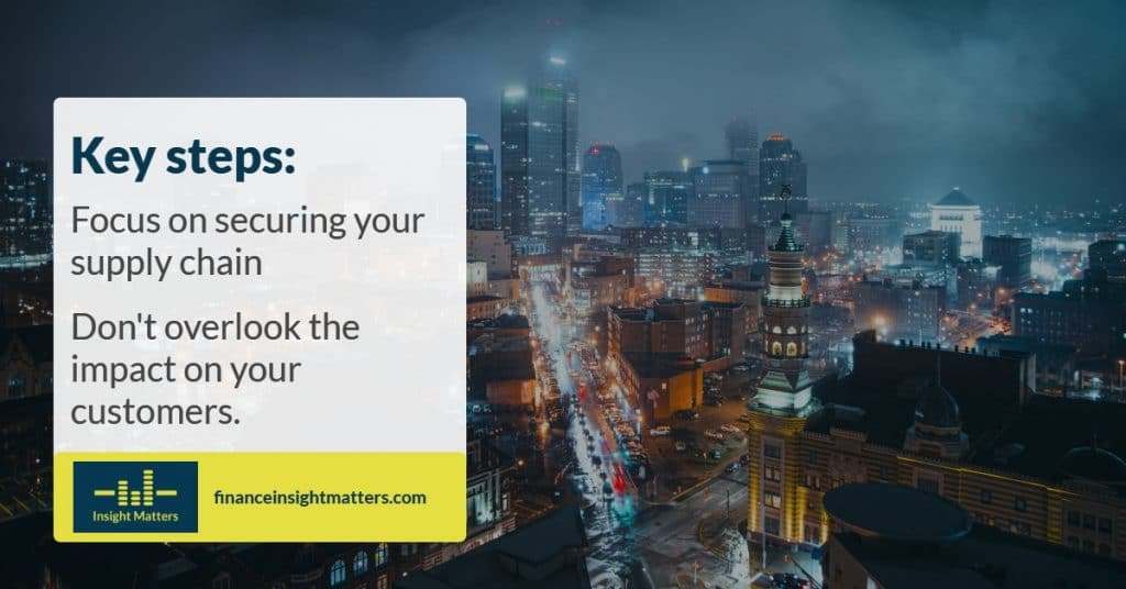 Focus on securing your supply chain