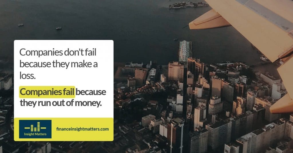 Companies don't fail because they make a loss.
