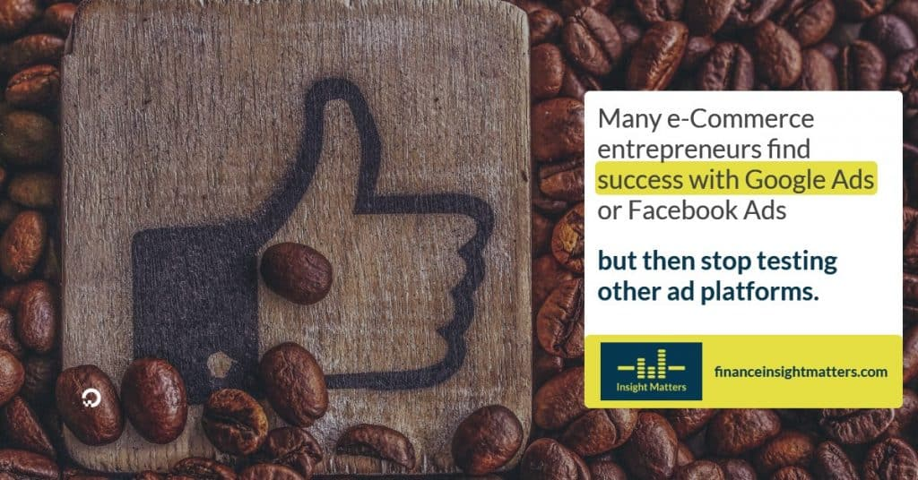 e-Commerce entrepreneurs find success with Google Ads of FB Ads