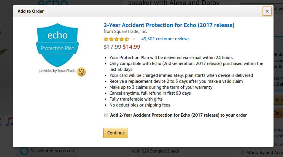 Average Order Value - Amazon - Cross Sell